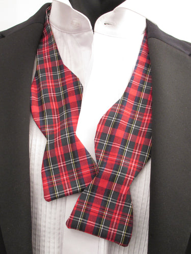 Ancient Stewart Tartan Self-Tied Bow by Van Buck