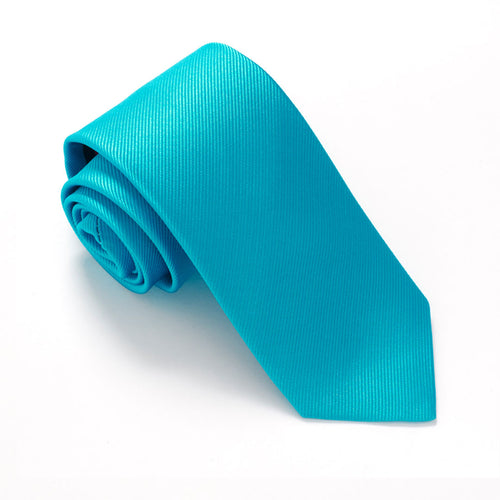 Teal Plain Red Label Silk Tie by Van Buck