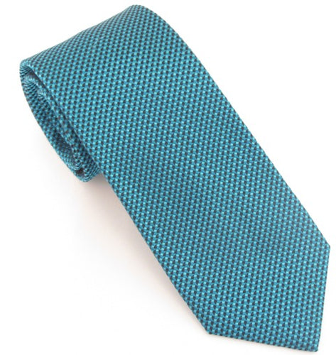 Van Buck London Plain Teal Silk Tie