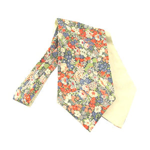 Thorpe Green Liberty Print Cotton Cravat by Van Buck