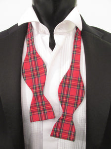 Royal Stewart Tartan Self-Tie Bow Tie by Van Buck