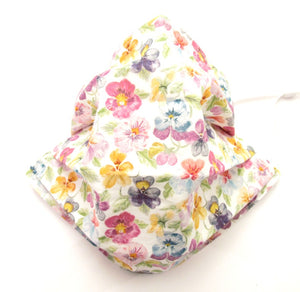 Think of Me Pleated Face Covering / Mask Made with Liberty Fabric