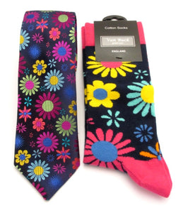 Van Buck Limited Edition Flower Silk Tie & Socks Gift Set