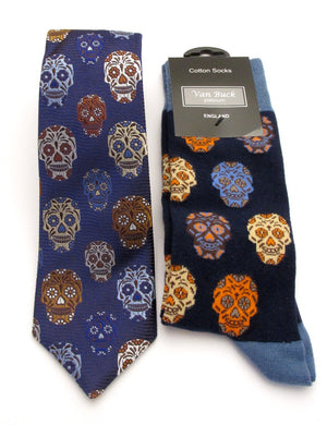 Van Buck Limited Edition Skull Silk Tie & Socks Gift Set