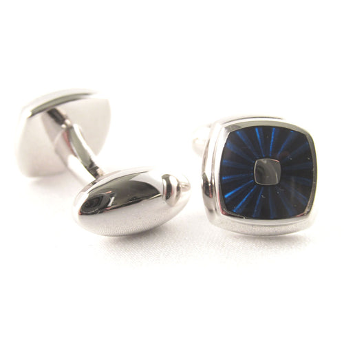 Van Buck Limited Edition Rounded Blue Cufflinks