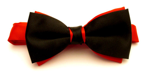 Black & Red Satin Two Tone Bow by Van Ert