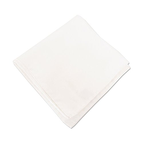 White Plain Silk Pocket Square by Van Buck