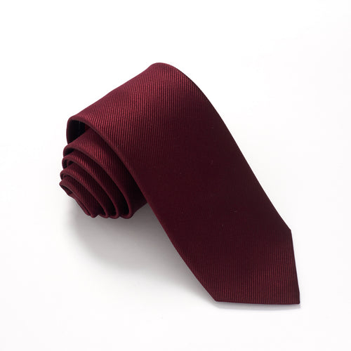 Wine Plain Red Label Silk Tie by Van Buck