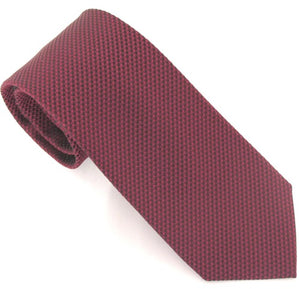 Van Buck London Plain Wine Silk Tie