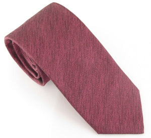 Wine Soho Silk Wedding Tie by Van Buck