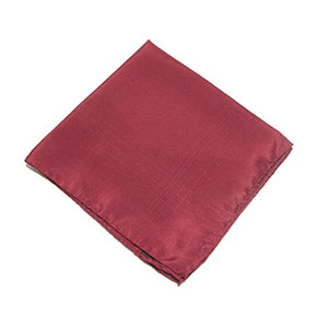 Wine Plain Silk Pocket Square by Van Buck