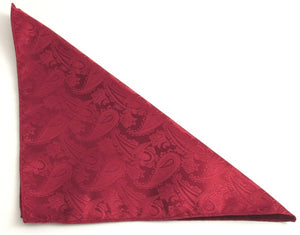 Wine Paisley Pocket Square by Van Buck