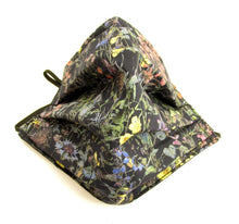 Face Mask Pleated Wild Flowers Navy Made with liberty Fabric
