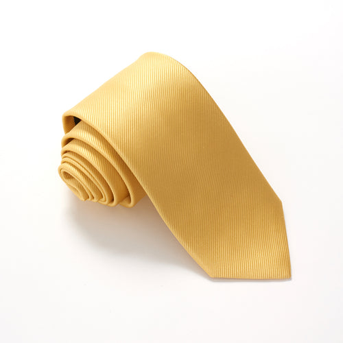 Yellow Plain Red Label Silk Tie by Van Buck