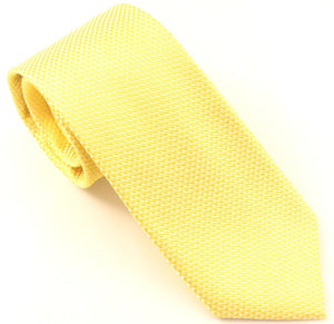 Yellow Silk Wedding Tie by Van Buck