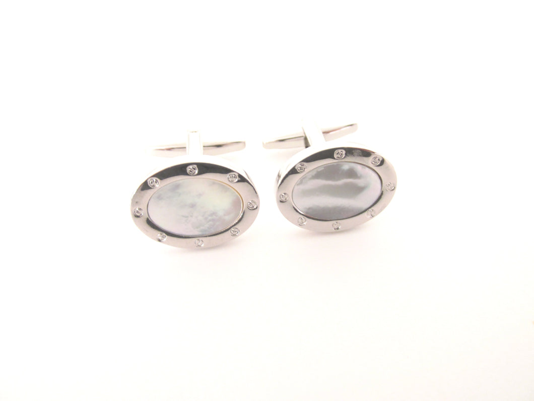 Mother of Pearl Novelty Cufflinks by Van Buck
