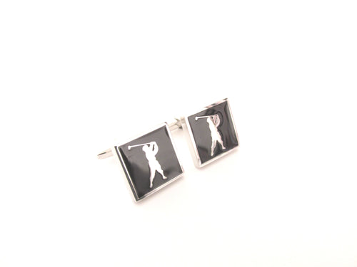 Golfer Novelty Cufflinks by Van Buck