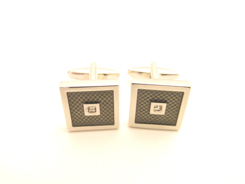Grey Stone Novelty Cufflinks by Van Buck