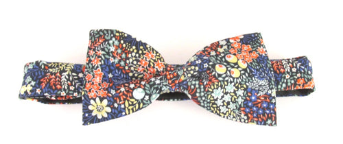 Elderberry Bow Tie Made with Liberty Fabric