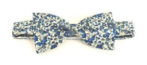 Emma & Georgina Blue Bow Tie Made with Liberty Fabric