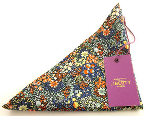 Elderberry Cotton Pocket Square Made with liberty Fabric