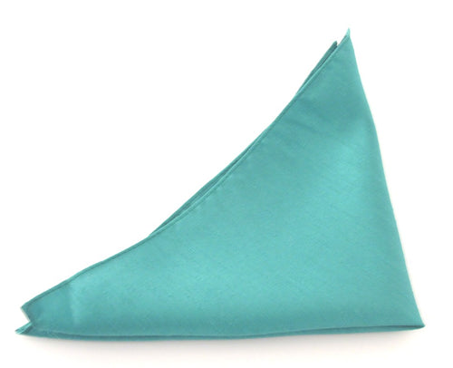 Van Buck Slub Plain Jade Pocket Square