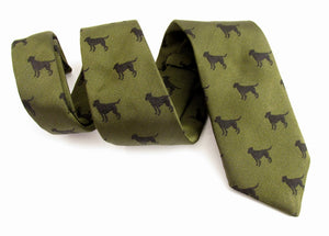 Labrador Green Country Silk Tie by Van Buck