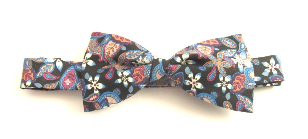 Lemon Flowers Bow Tie Made with Liberty Fabric