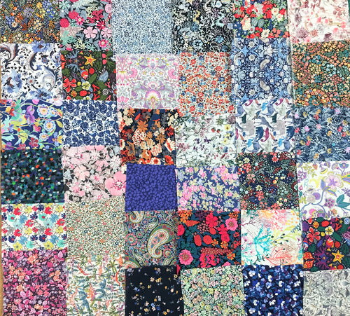Bag of 36 Assorted Patchwork Liberty Fabric Pieces