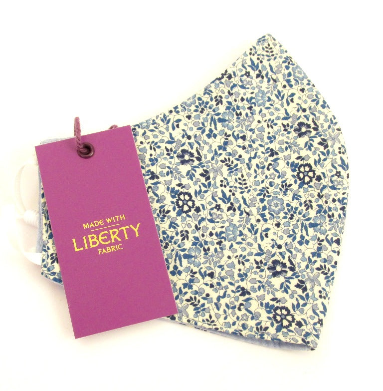 Katie & Millie Blue Face Covering / Mask Made with Liberty Fabric