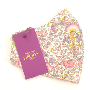 Lodden Pink Face Covering / Mask Made with Liberty Fabric