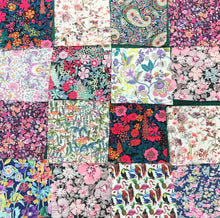 Bag of 18 Pink Assorted Patchwork Liberty Fabric Pieces