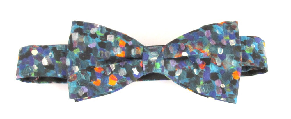 Pointillism Bow Tie Made with Liberty Fabric