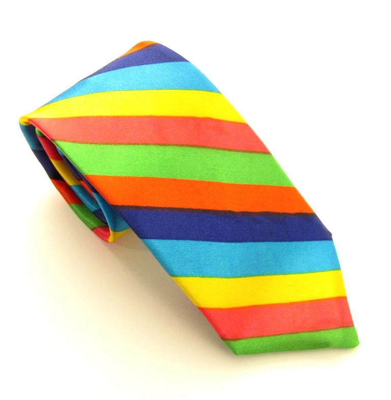 Rainbow Stripe Tie by Van Buck