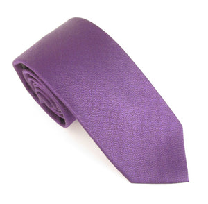 Purple Self Pattern Red Label Silk Tie By Van Buck