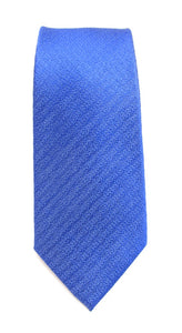 Royal Blue Self Pattern Red Label Silk Tie by Van Buck