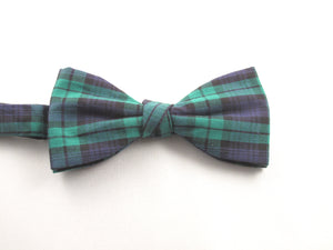 Black Watch Tartan Pre-Tied Bow by Van Buck