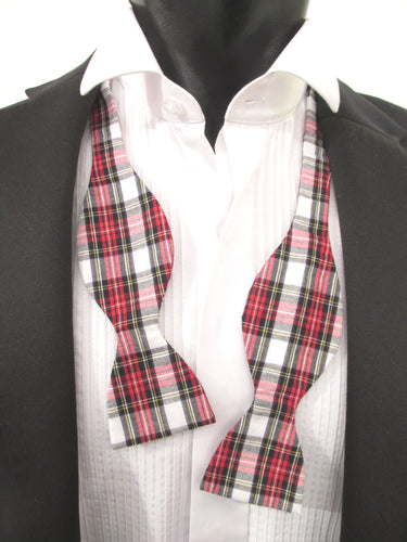 Dress Stewart Tartan Self-Tied Bow by Van Buck