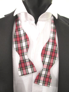 Dress Stewart Tartan Self-Tie Bow Tie by Van Buck