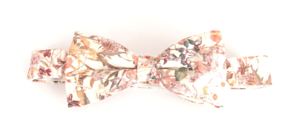 Wild Flowers Pink Bow Tie Made with Liberty Fabric