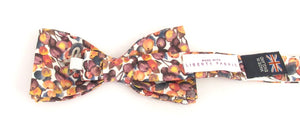 Liberty Print Winter Berry Bow Tie by Van Buck