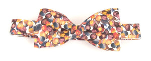 Winter Berry Bow Tie Made with Liberty Fabric