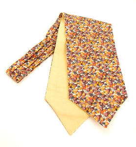 Winter Berry Cotton Cravat Made with Liberty Fabric