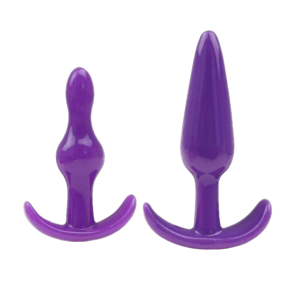 4 Pcs/Set Different Shapes Silicone Plugs - 3 Colors to choose from