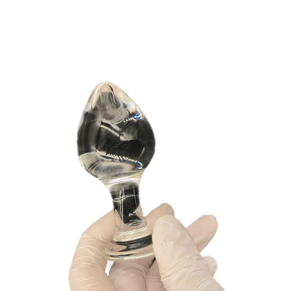 "4"" Transparent Glass Butt Plug"