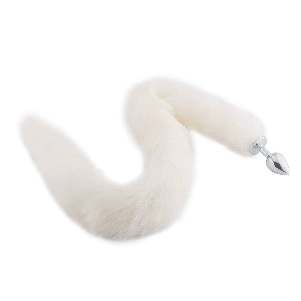 "32"" White Fox Tail Plug"