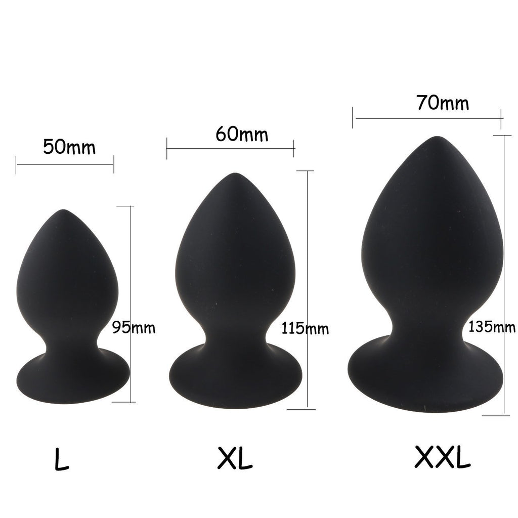 2 colors 3 Sizes Smooth Silicone Large Butt Plugs