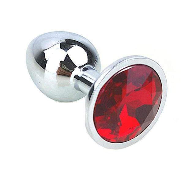 "9 Colors Jeweled 3"" Metal Plug"