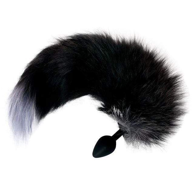 "15"" Black Fox Tail Silica Gel Plug"