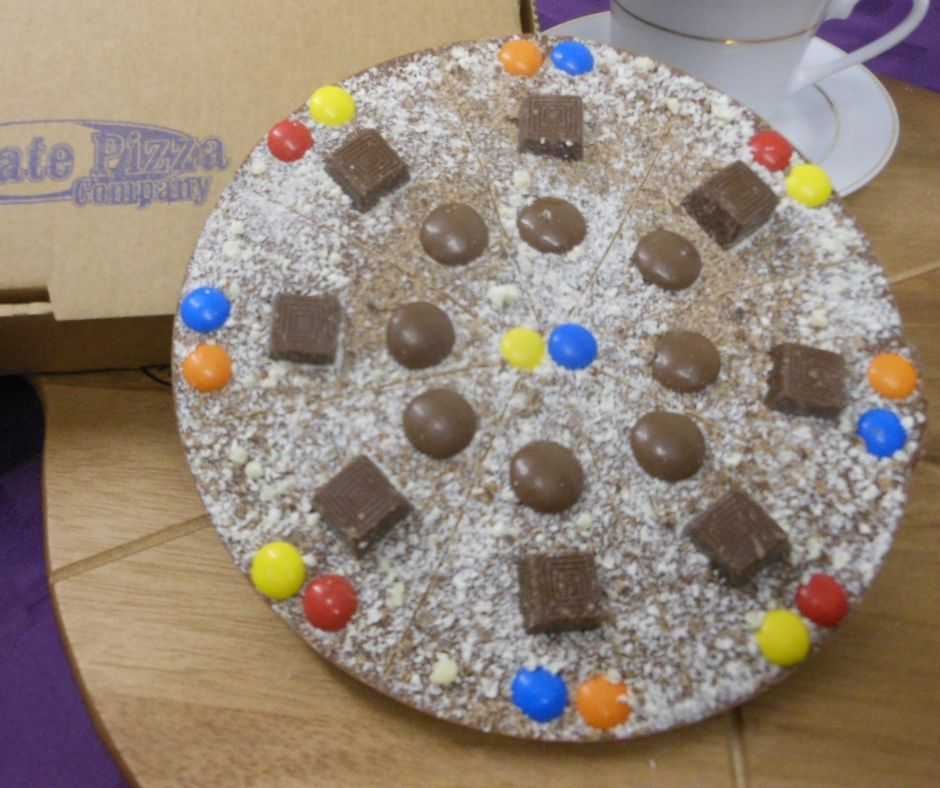 Fruit and Nut Chocolate Pizza by The Chocolate Pizza Company.co.uk